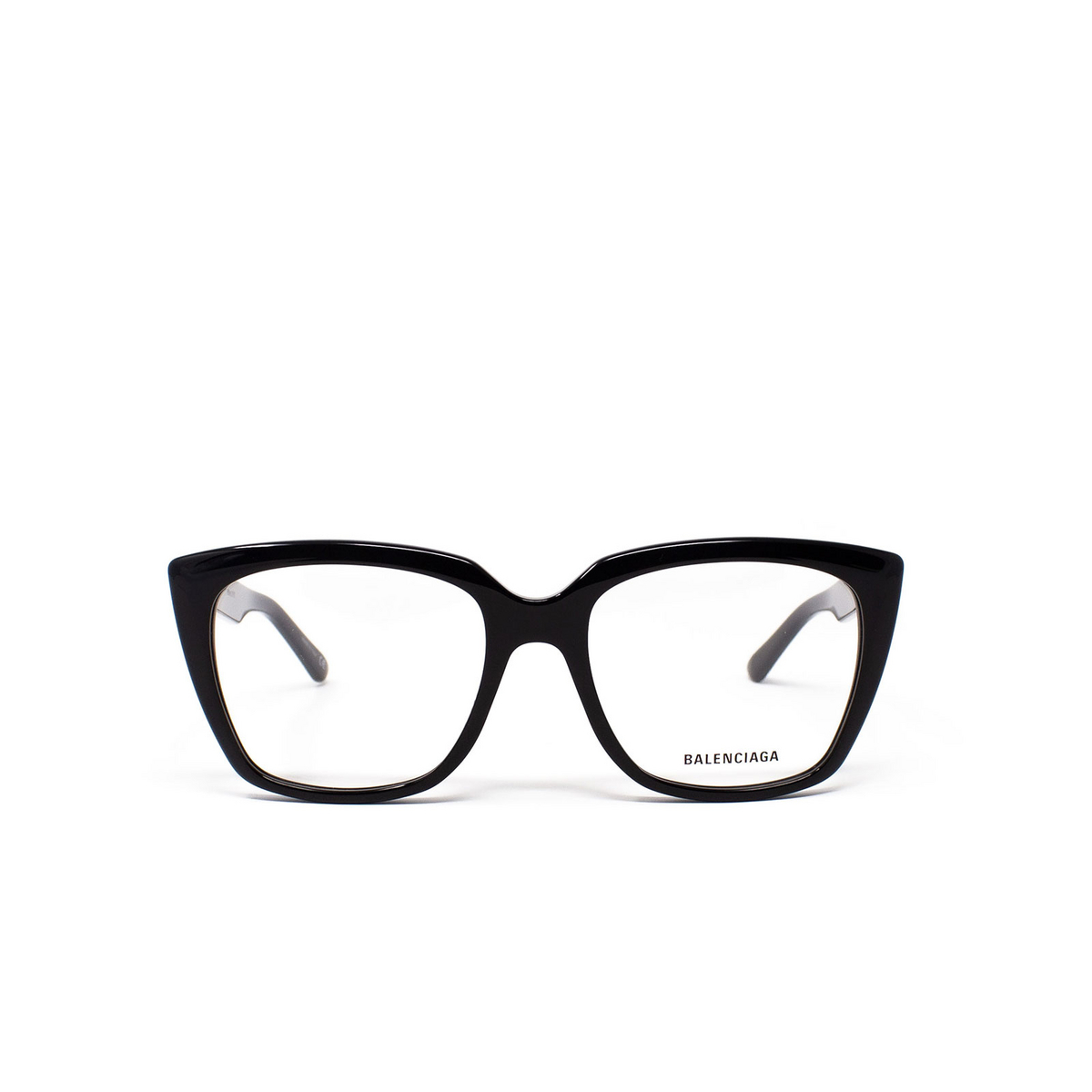 Balenciaga® Square Eyeglasses: BB0062O color Black 001 - front view.