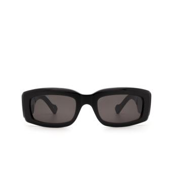 Balenciaga® Rectangle Sunglasses: BB0071S color Black 001.