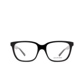Balenciaga® Square Eyeglasses: BB0078O color Black 001.
