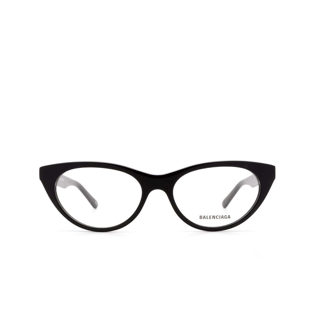 Balenciaga® Cat-eye Eyeglasses: BB0079O color Black 001 - front view.