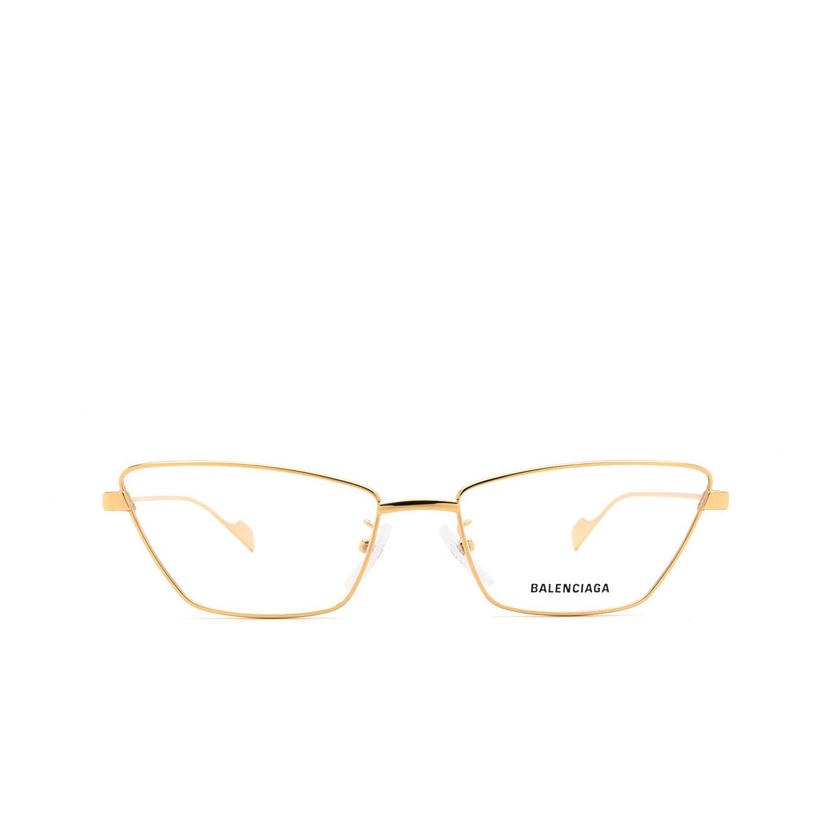 Balenciaga® Cat-eye Eyeglasses: BB0091O color Gold 003 - front view.