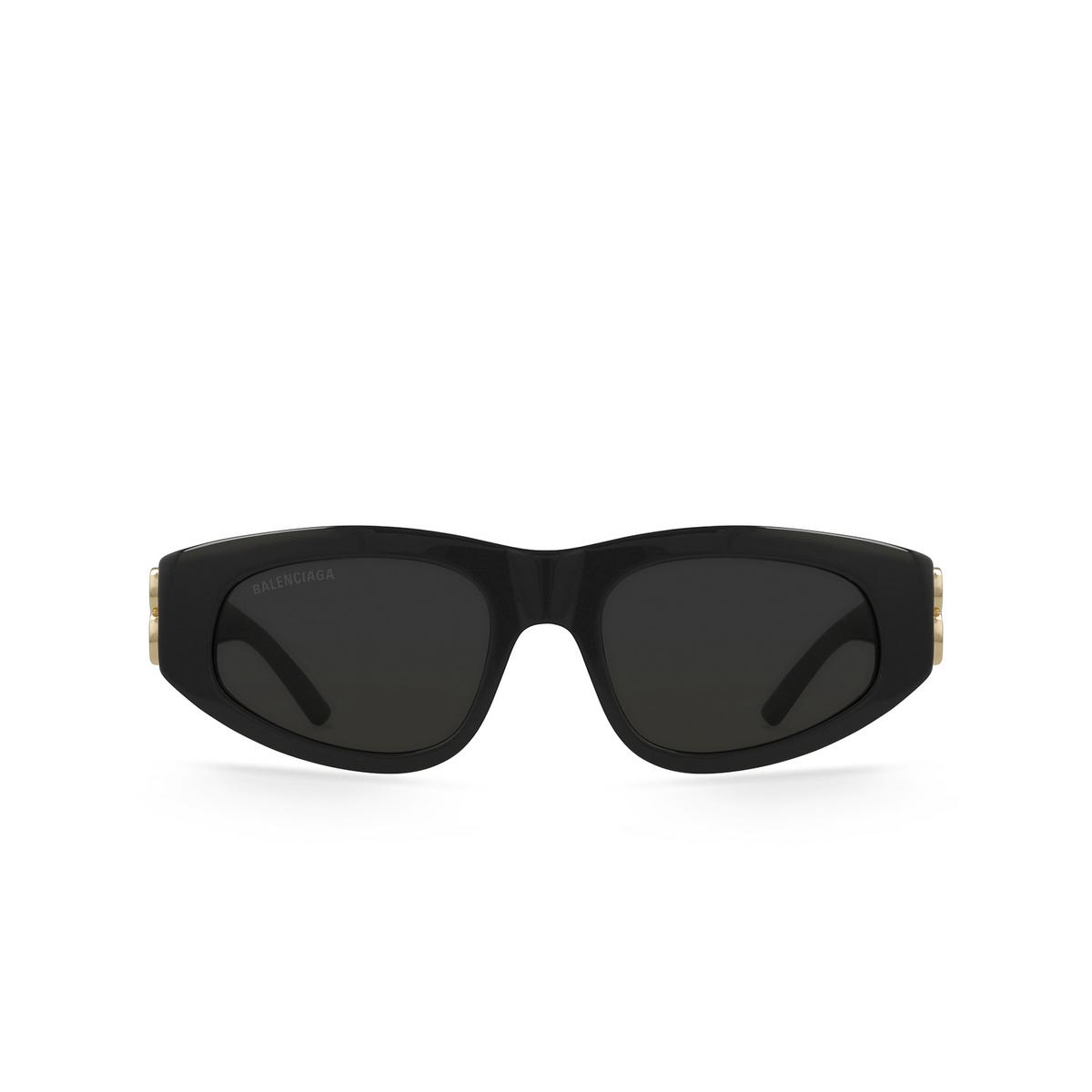 Balenciaga® Oval Sunglasses: BB0095S color Black 001 - front view.