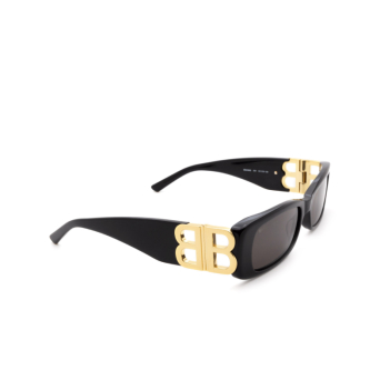 Balenciaga® Rectangle Sunglasses: BB0096S color Black 001.