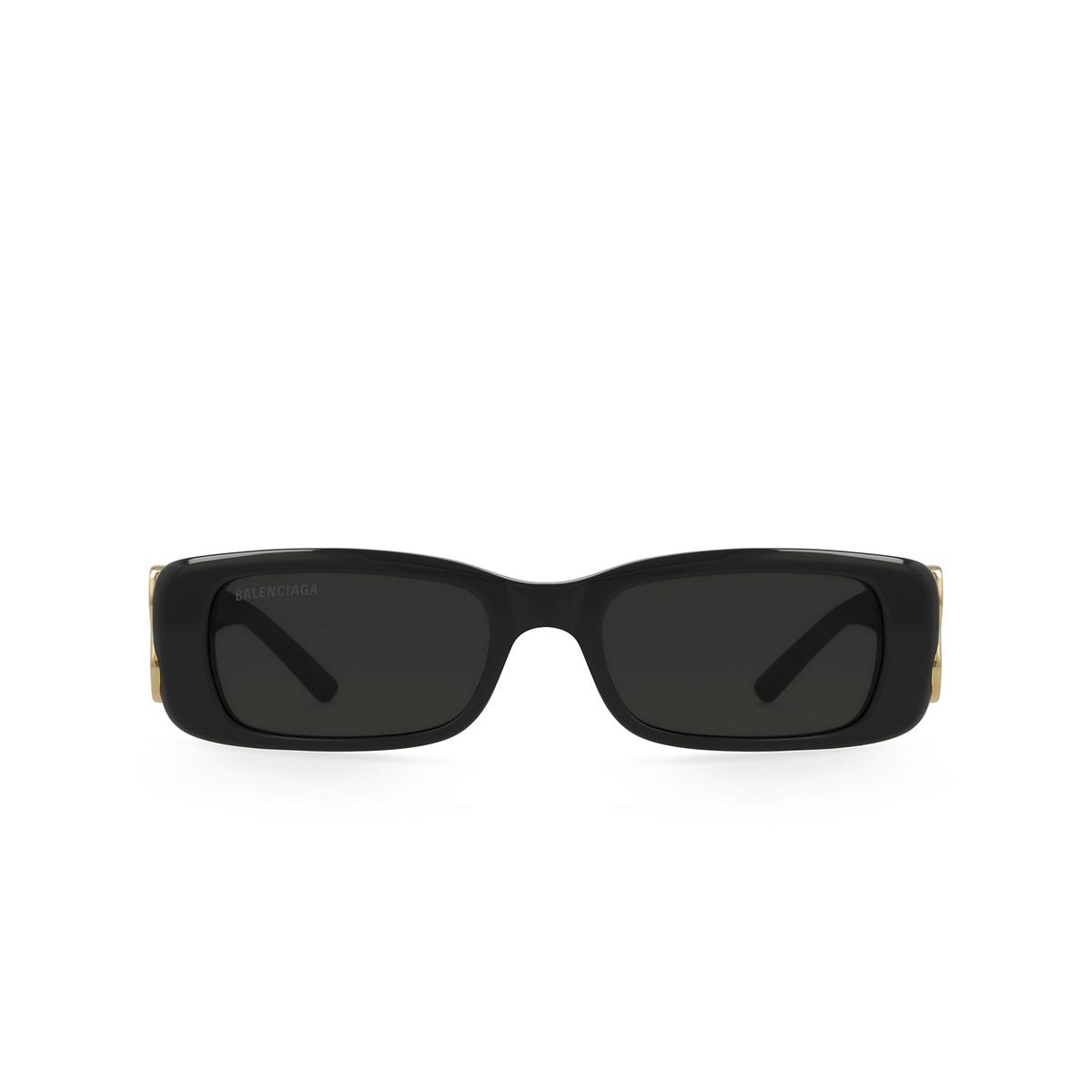 Balenciaga® Rectangle Sunglasses: BB0096S color Black 001.