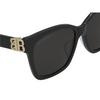 Balenciaga® Square Sunglasses: BB0102SA color Black 001 - product thumbnail 3/3.