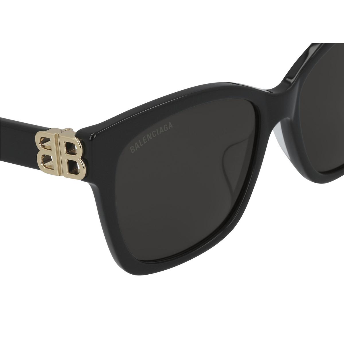 Balenciaga® Square Sunglasses: BB0102SA color Black 001 - 3/3.