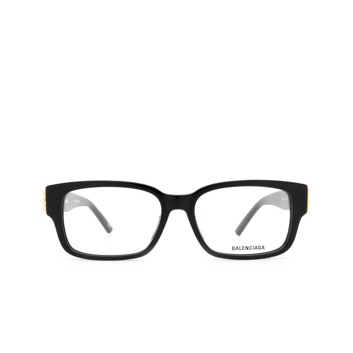 Balenciaga® Rectangle Eyeglasses: BB0105O color Black 001 - front view.