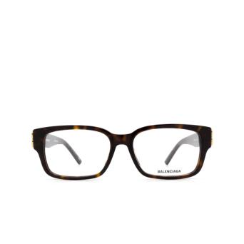 Balenciaga® Rectangle Eyeglasses: BB0105O color Havana 002.