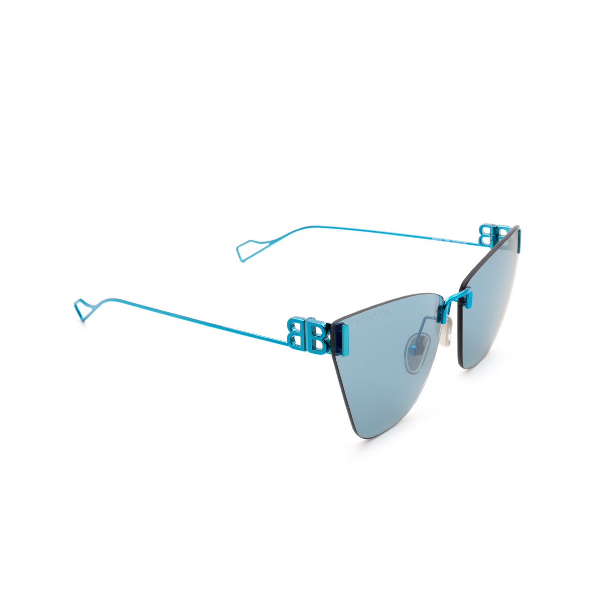 Balenciaga® Cat-eye Sunglasses: BB0111S color Light-blue 003 - 2/3.