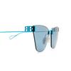 Balenciaga® Cat-eye Sunglasses: BB0111S color Light-blue 003 - product thumbnail 3/3.