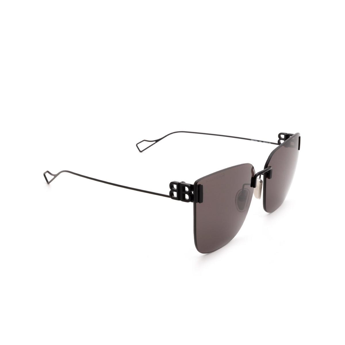 Balenciaga® Square Sunglasses: BB0112SA color Black 001 - 2/3.
