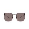 Balenciaga® Square Sunglasses: BB0112SA color Black 001 - product thumbnail 1/3.
