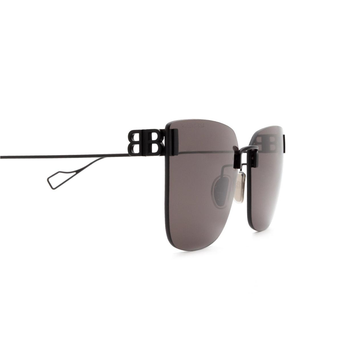 Balenciaga® Square Sunglasses: BB0112SA color Black 001 - 3/3.