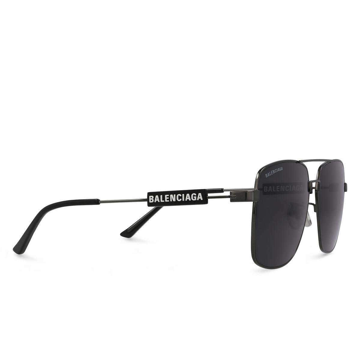 Balenciaga® Square Sunglasses: BB0116SA color Grey 001 - 2/3.