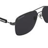 Balenciaga® Square Sunglasses: BB0116SA color Grey 001 - product thumbnail 3/3.