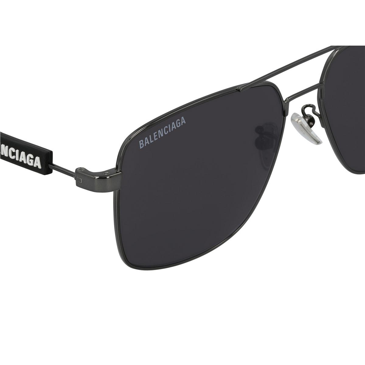 Balenciaga® Square Sunglasses: BB0116SA color Grey 001 - 3/3.