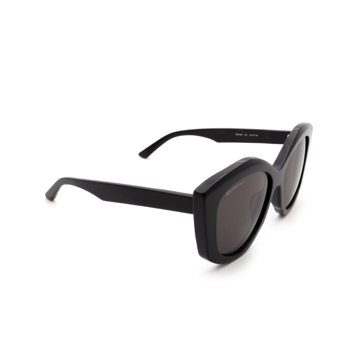 Balenciaga® Butterfly Sunglasses: BB0126S color Black 001.