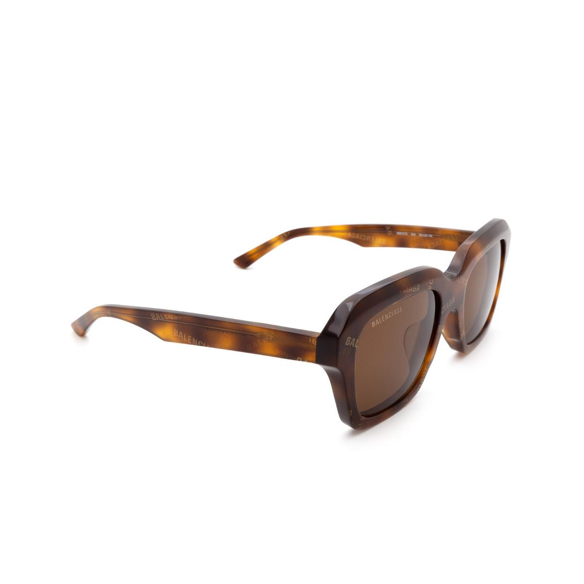 Balenciaga® Rectangle Sunglasses: BB0127S color Havana 002.