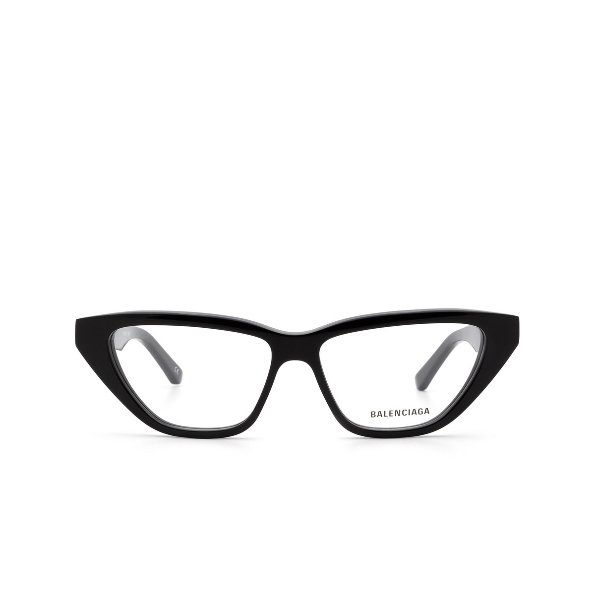 Balenciaga® Cat-eye Eyeglasses: BB0128O color Black 001 - front view.