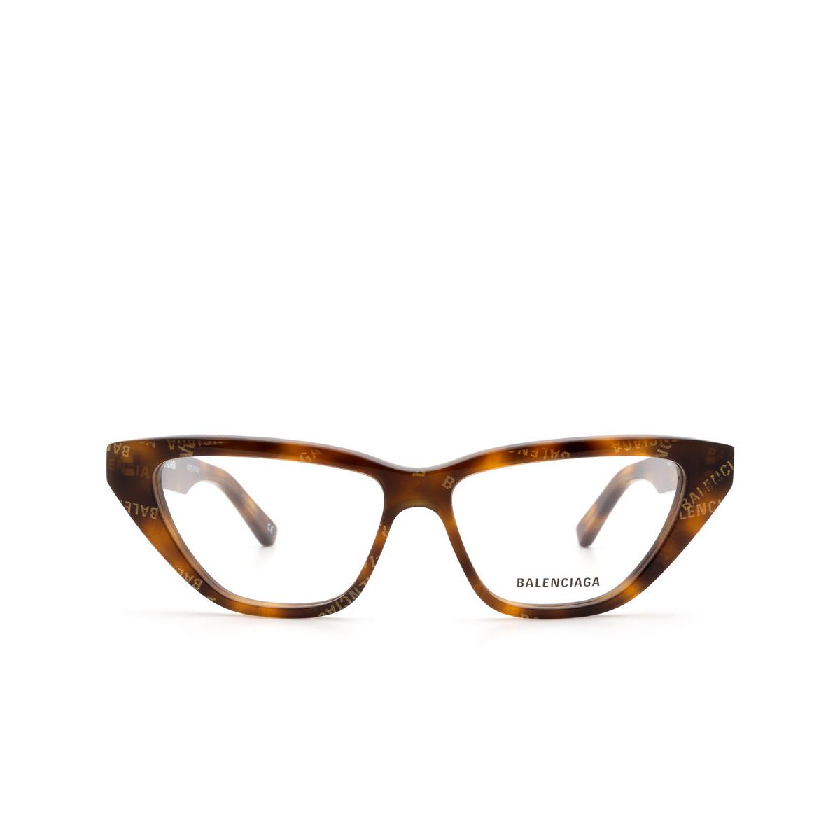 Balenciaga® Cat-eye Eyeglasses: BB0128O color Havana 002 - front view.