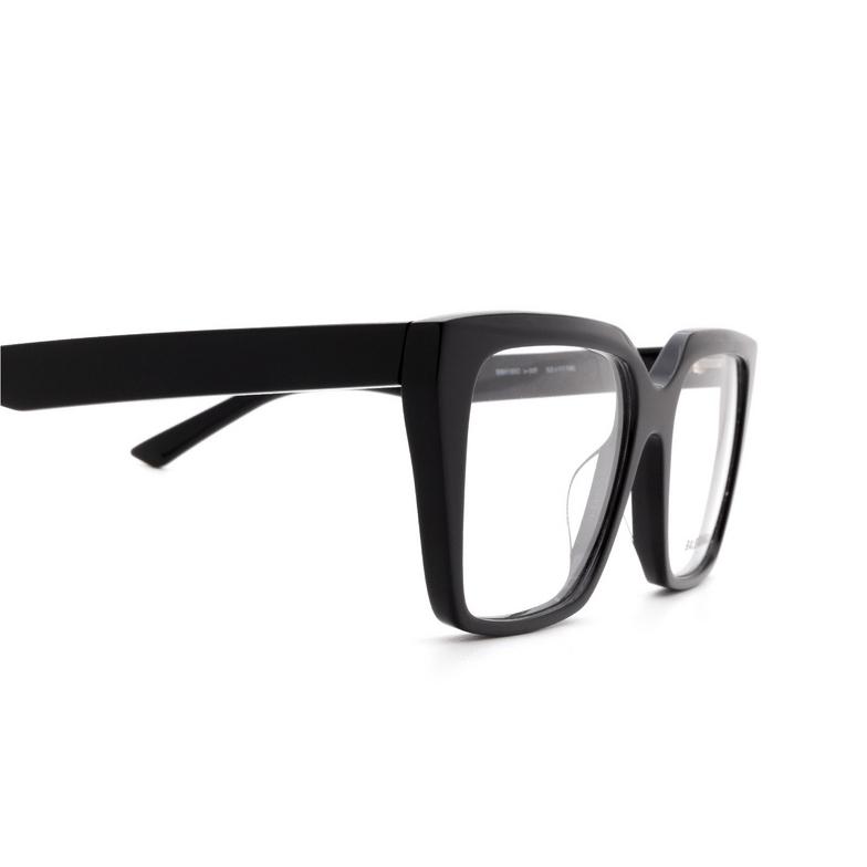 Balenciaga® Square Eyeglasses: BB0130O color Black 001.