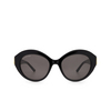 Balenciaga® Oval Sunglasses: BB0133S color Black 001 - product thumbnail 1/3.