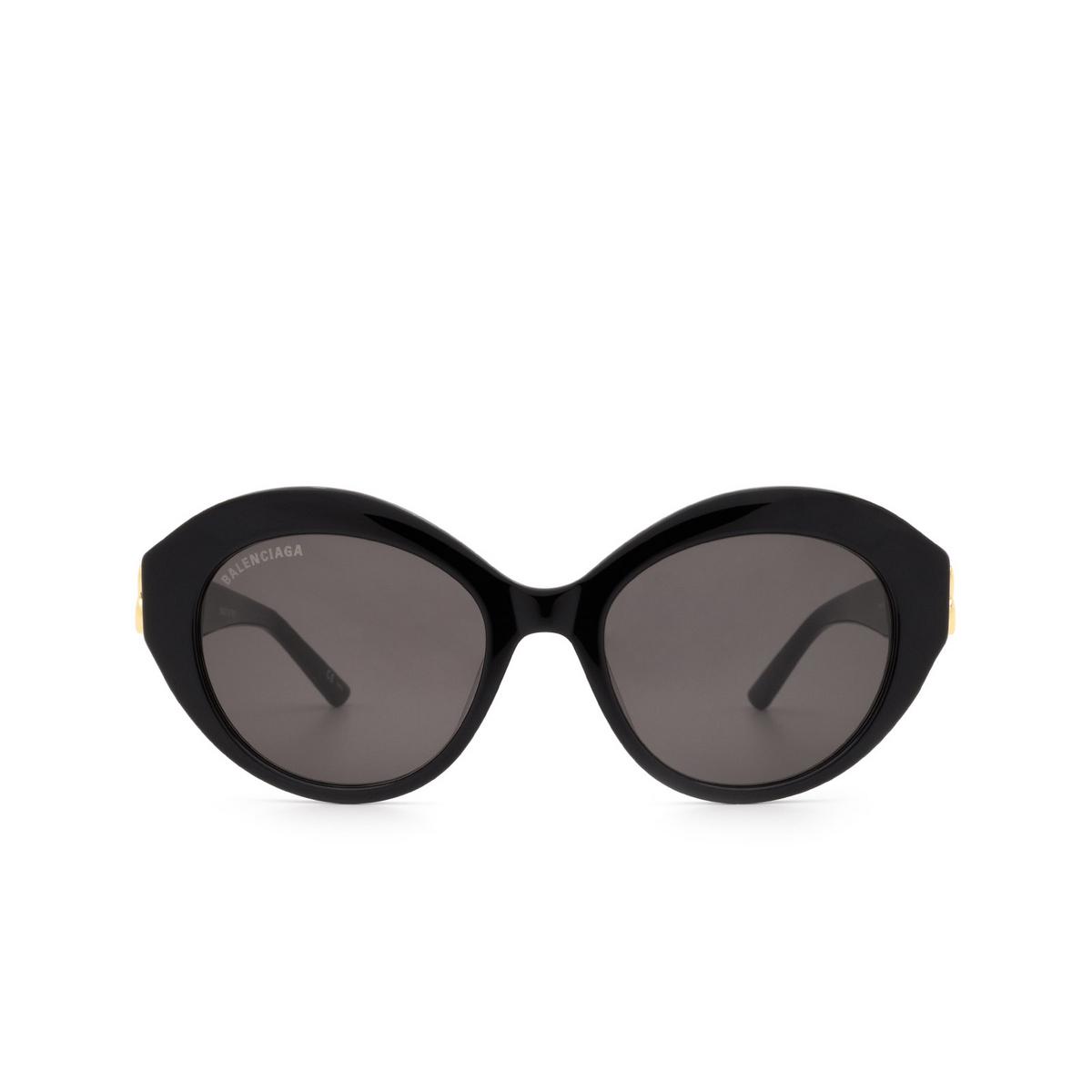 Balenciaga® Oval Sunglasses: BB0133S color Black 001 - front view.