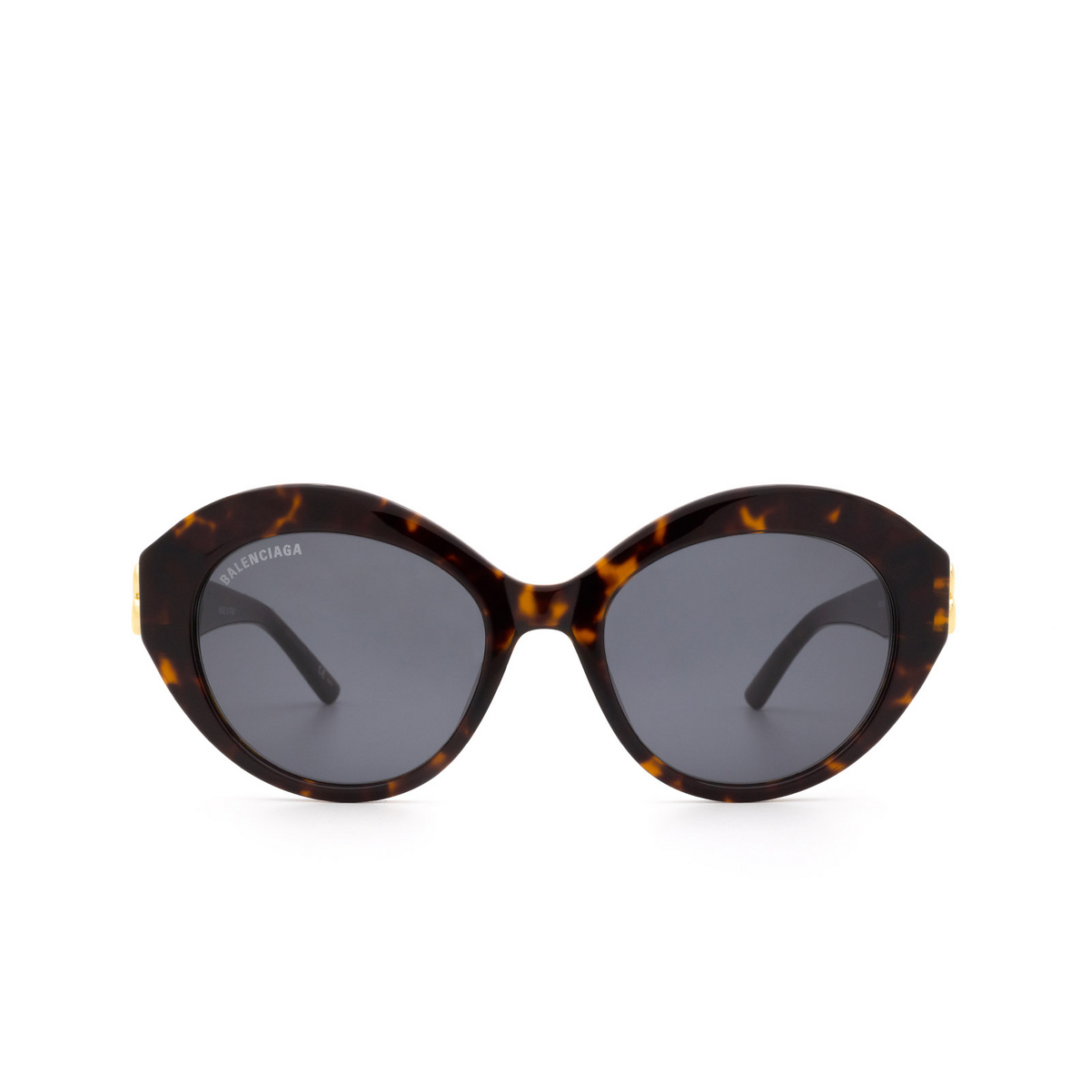 Balenciaga® Oval Sunglasses: BB0133S color Havana 002 - front view.