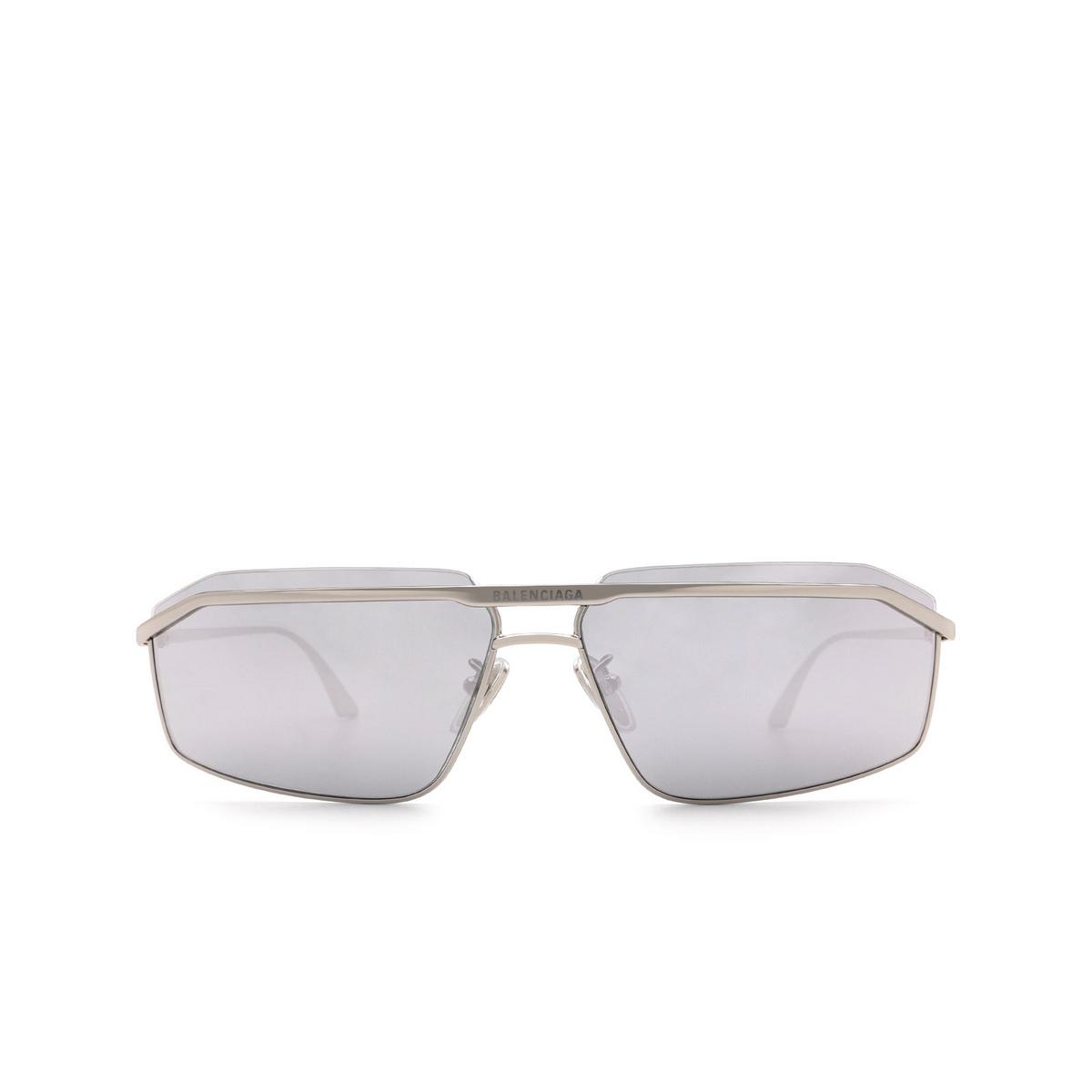 Balenciaga® Rectangle Sunglasses: BB0139S color Silver 003.