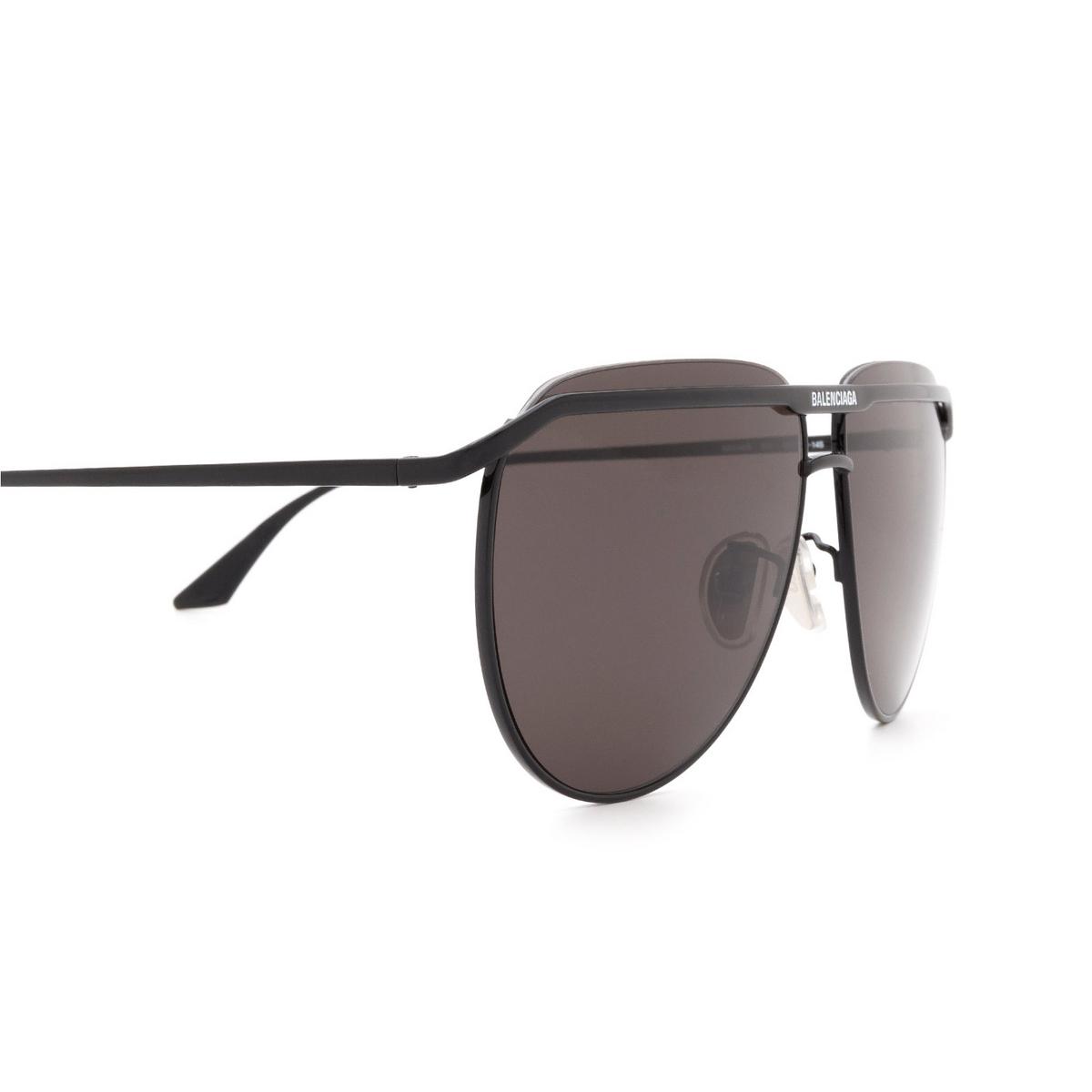 Balenciaga® Aviator Sunglasses: BB0140S color Black 001 - 3/3.