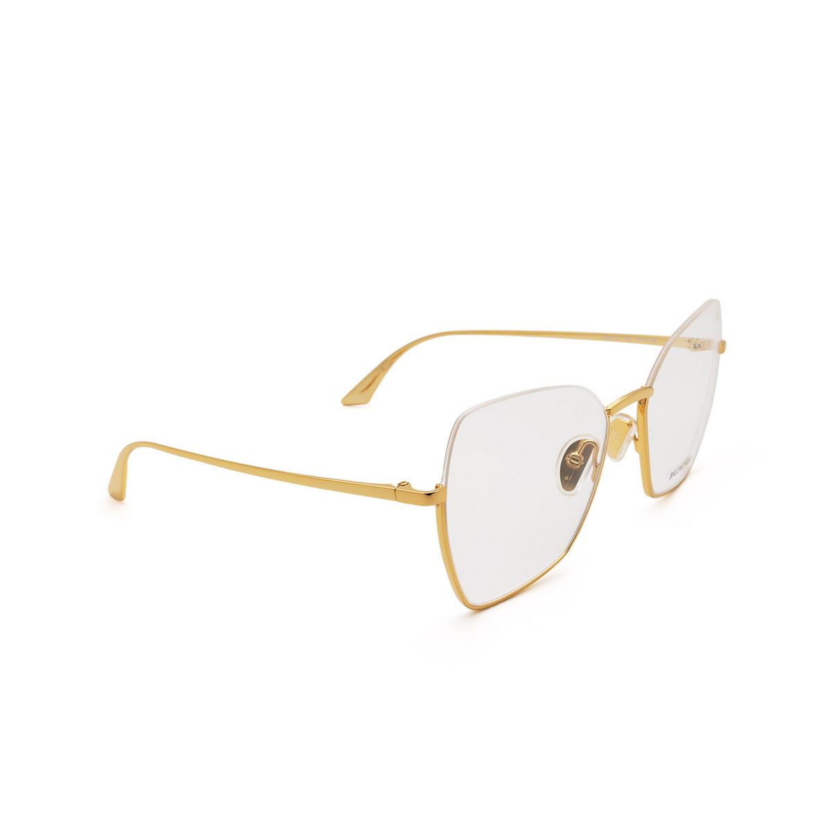 Balenciaga® Irregular Eyeglasses: BB0142O color Gold 002 - three-quarters view.