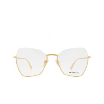 Balenciaga® Irregular Eyeglasses: BB0142O color Gold 002.