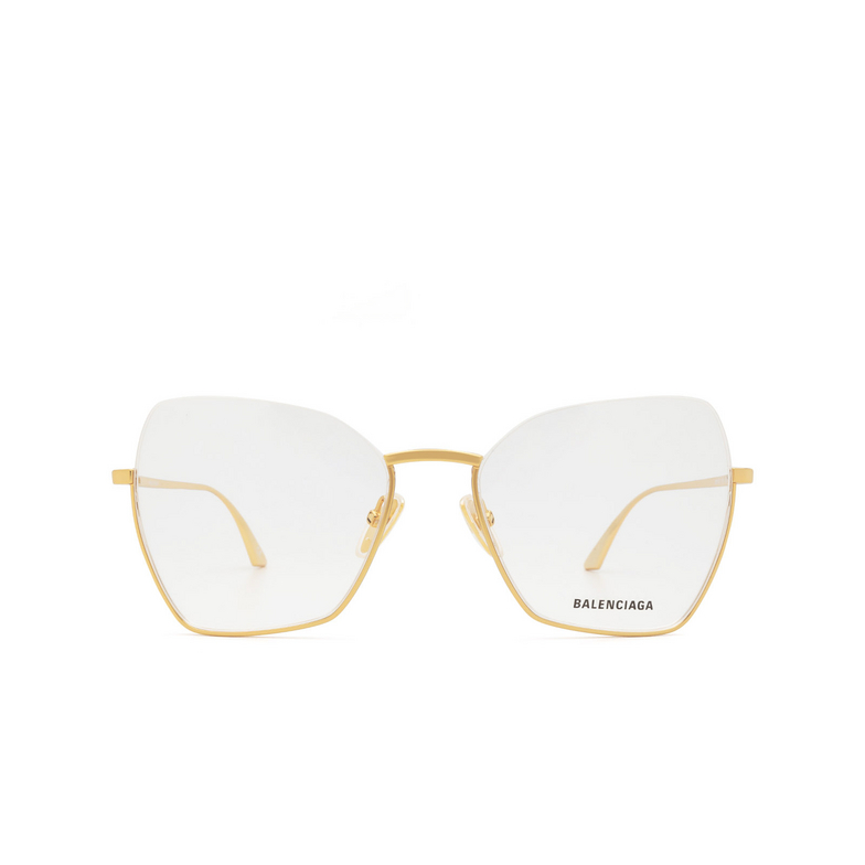 Balenciaga® Irregular Eyeglasses: BB0142O color Gold 002.