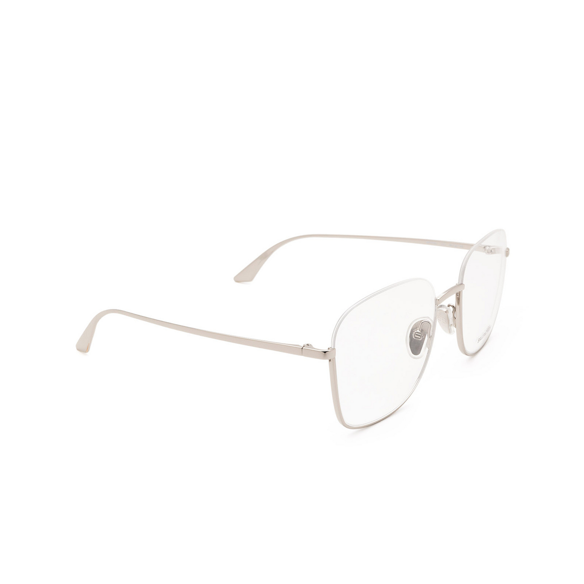 Balenciaga® Irregular Eyeglasses: BB0144O color Silver 002 - three-quarters view.