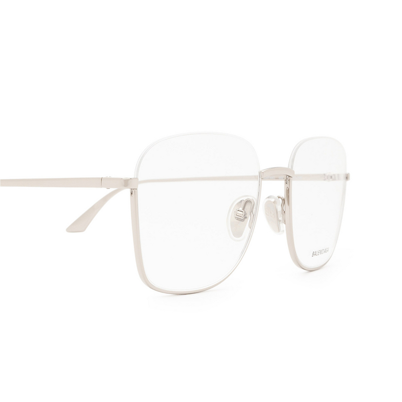 Balenciaga® Irregular Eyeglasses: BB0144O color Silver 002.