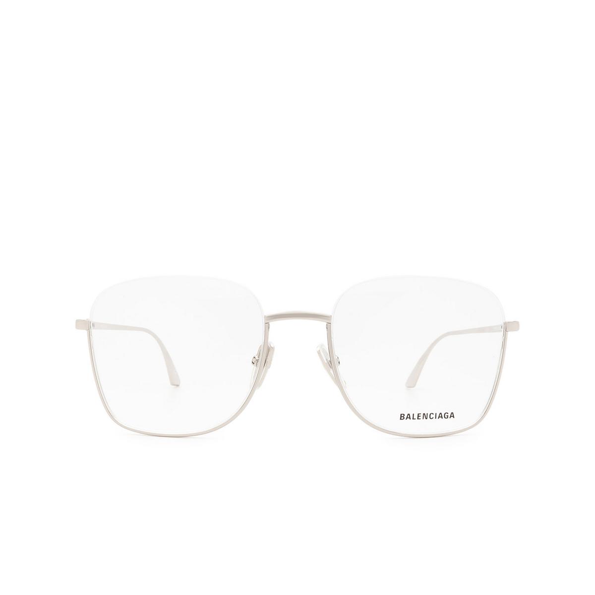 Balenciaga® Irregular Eyeglasses: BB0144O color Silver 002 - front view.