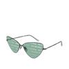 Balenciaga® Cat-eye Sunglasses: BB0148S color Shiny Dark Grey 002 - product thumbnail 2/2.
