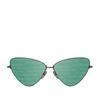 Balenciaga® Cat-eye Sunglasses: BB0148S color Shiny Dark Grey 002 - product thumbnail 1/2.