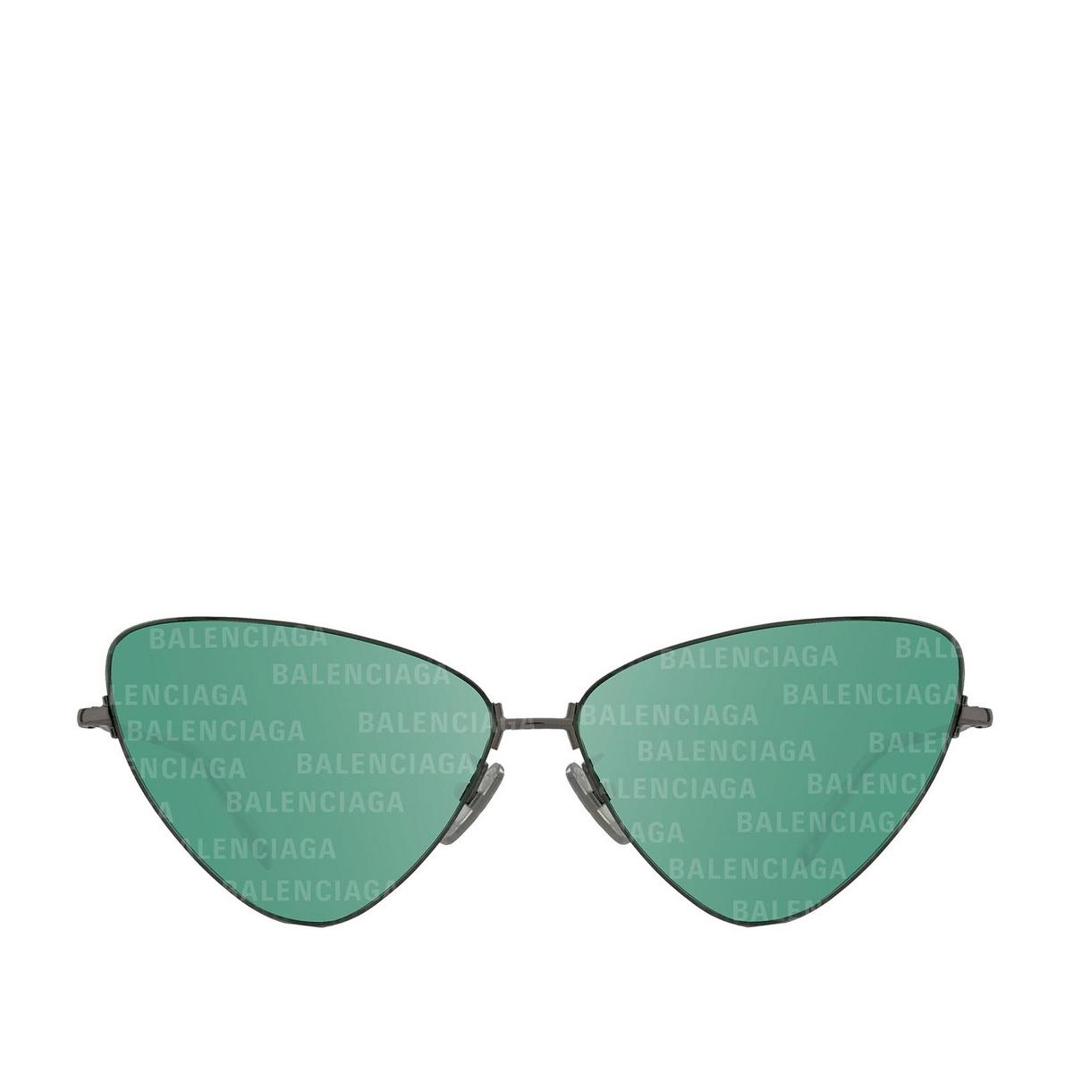 Balenciaga® Cat-eye Sunglasses: BB0148S color Shiny Dark Grey 002 - front view.