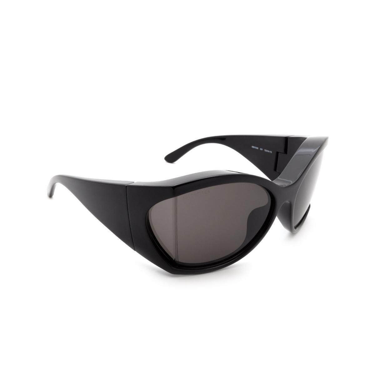 Balenciaga® Irregular Sunglasses: BB0154S color Black 001.