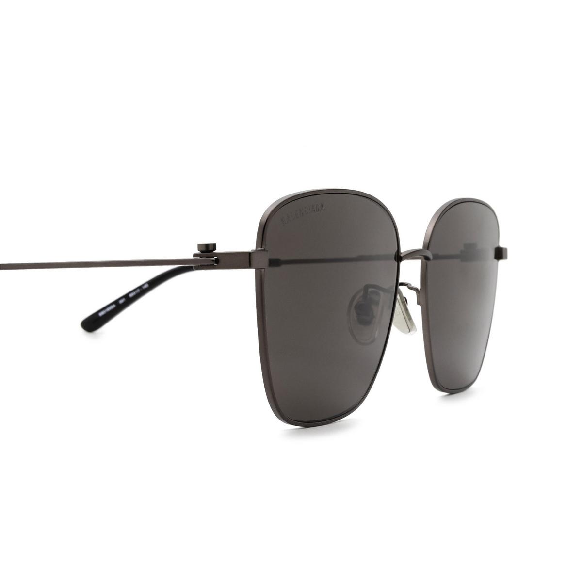 Balenciaga® Square Sunglasses: BB0165SA color Grey 001 - 3/3.