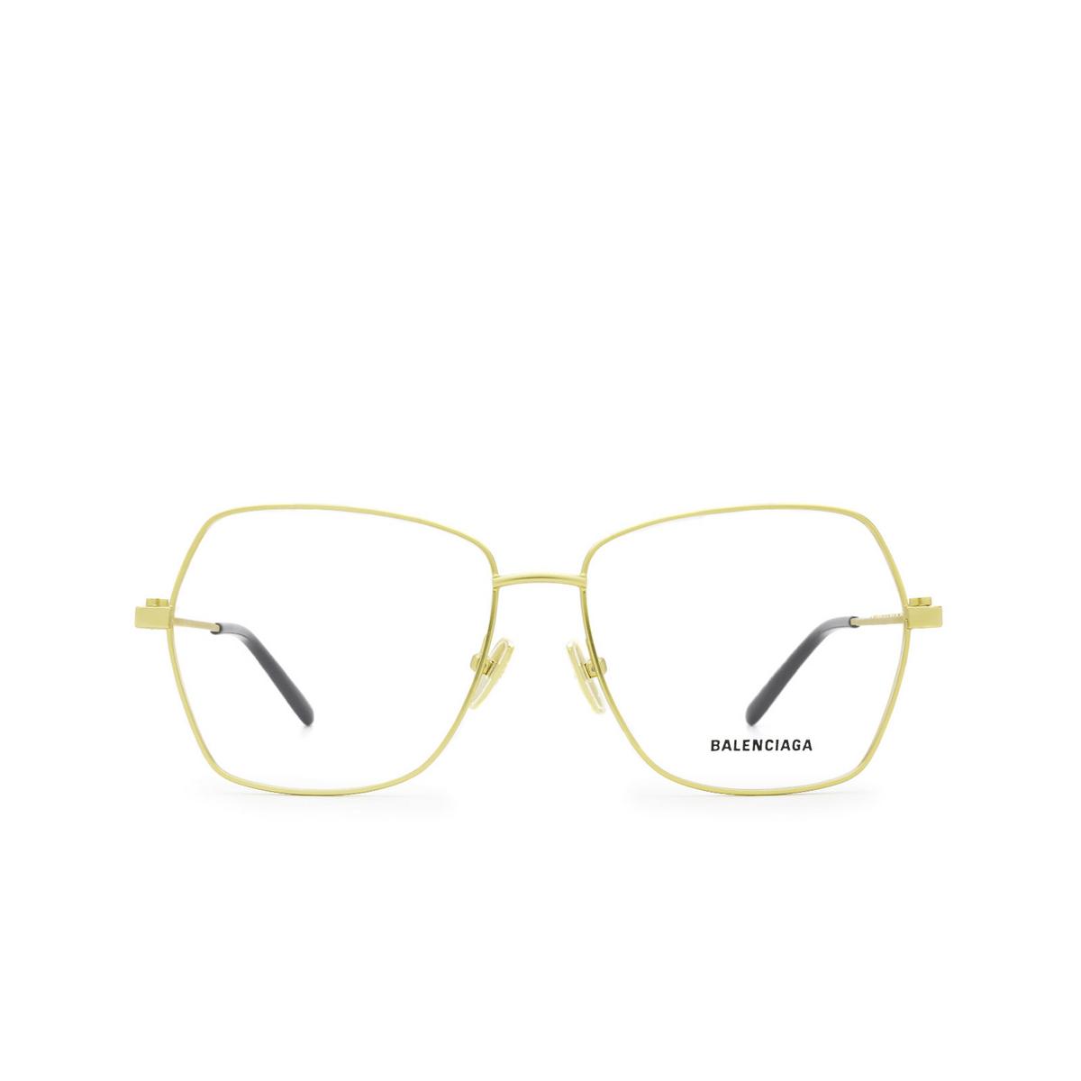 Balenciaga® Irregular Eyeglasses: BB0169O color Gold 003 - front view.