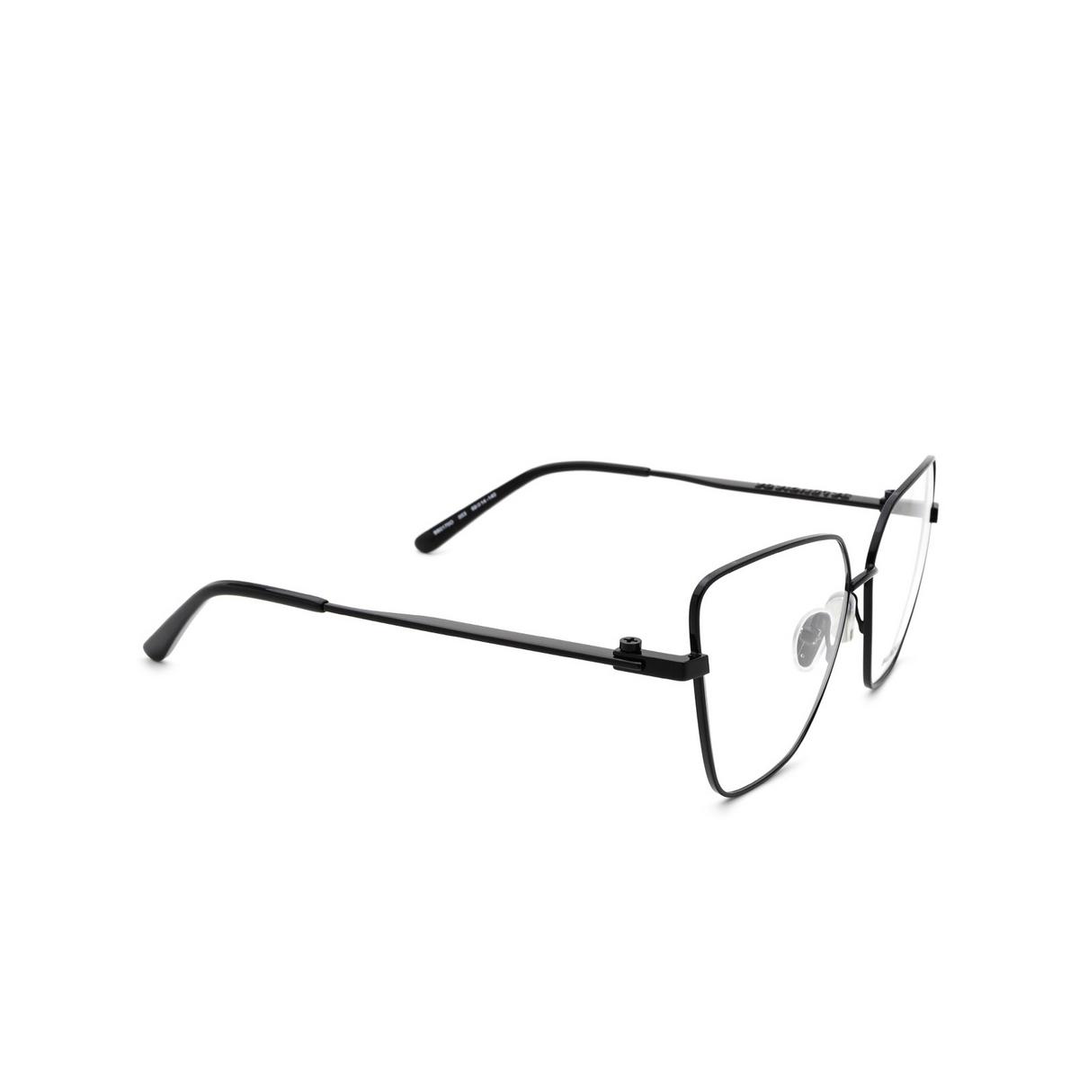 Balenciaga® Butterfly Eyeglasses: BB0170O color Black 003 - three-quarters view.