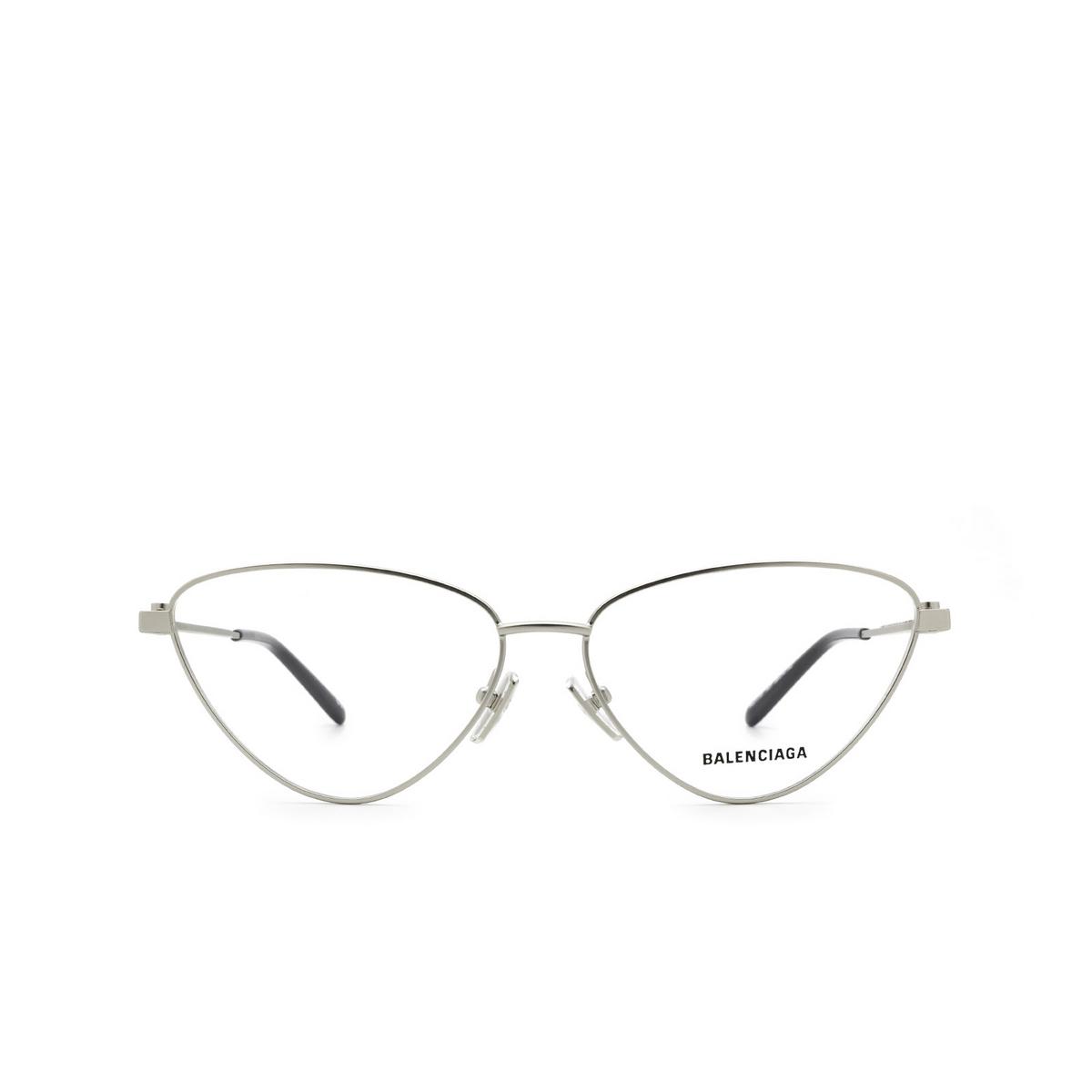 Balenciaga® Cat-eye Eyeglasses: BB0171O color Silver 001 - front view.