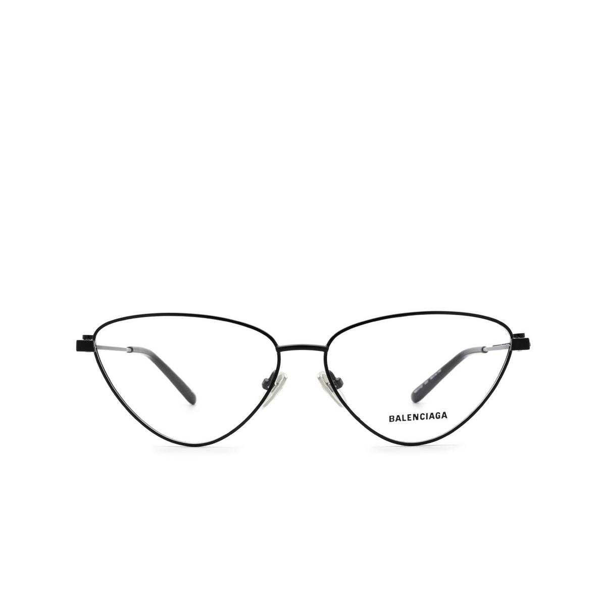 Balenciaga® Cat-eye Eyeglasses: BB0171O color Black 003 - front view.