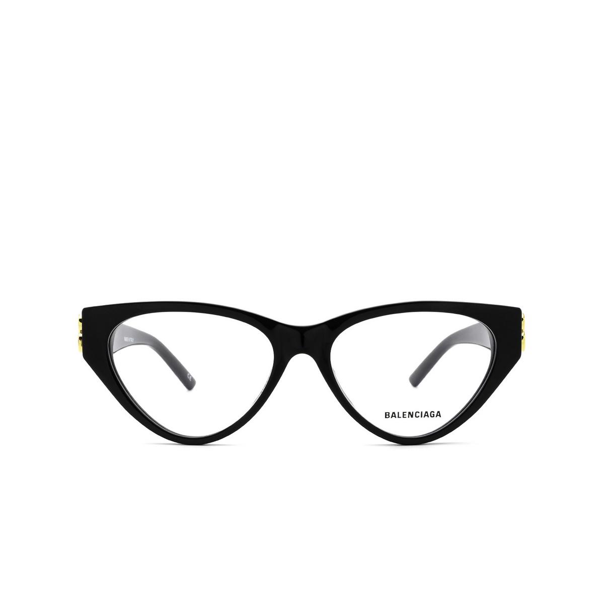 Balenciaga® Cat-eye Eyeglasses: BB0172O color Black 001 - front view.