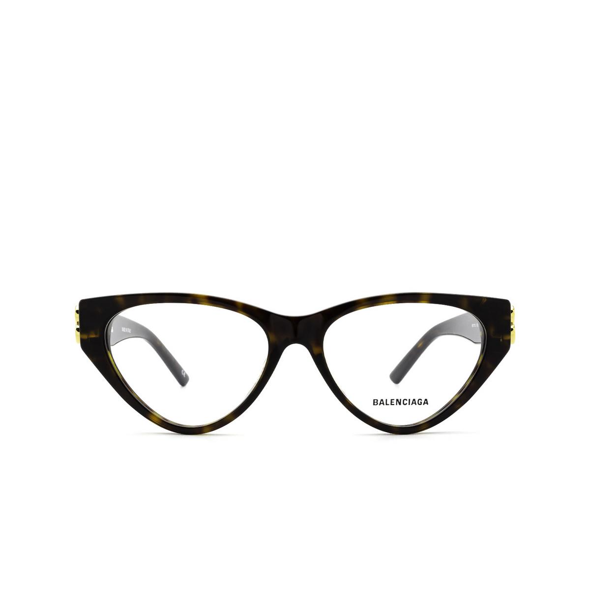 Balenciaga® Cat-eye Eyeglasses: BB0172O color Havana 002 - front view.