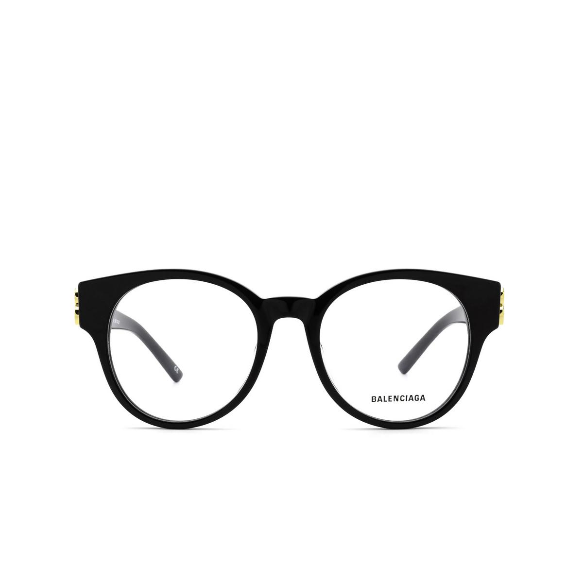 Balenciaga® Cat-eye Eyeglasses: BB0173O color Black 001 - front view.