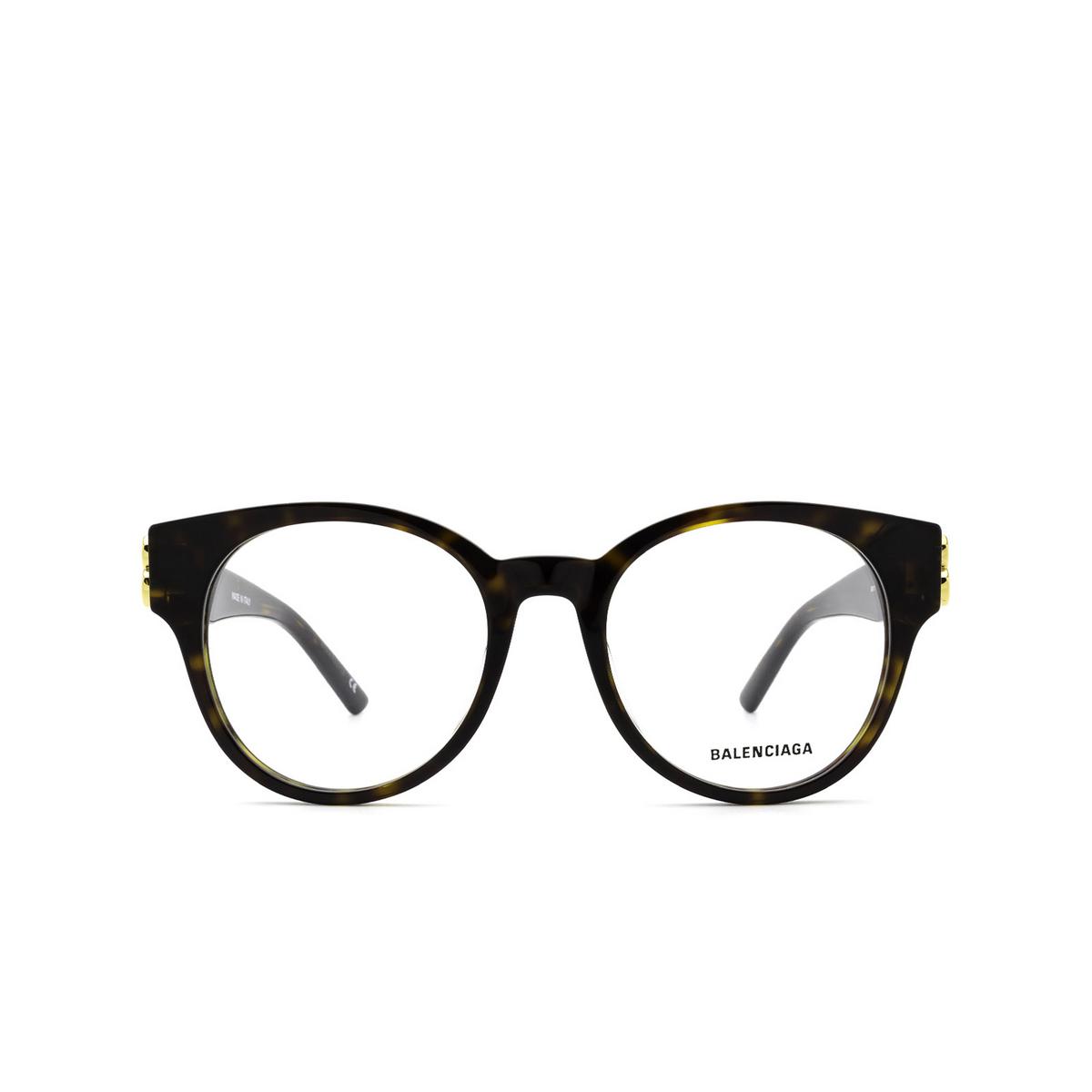 Balenciaga® Cat-eye Eyeglasses: BB0173O color Havana 002 - front view.