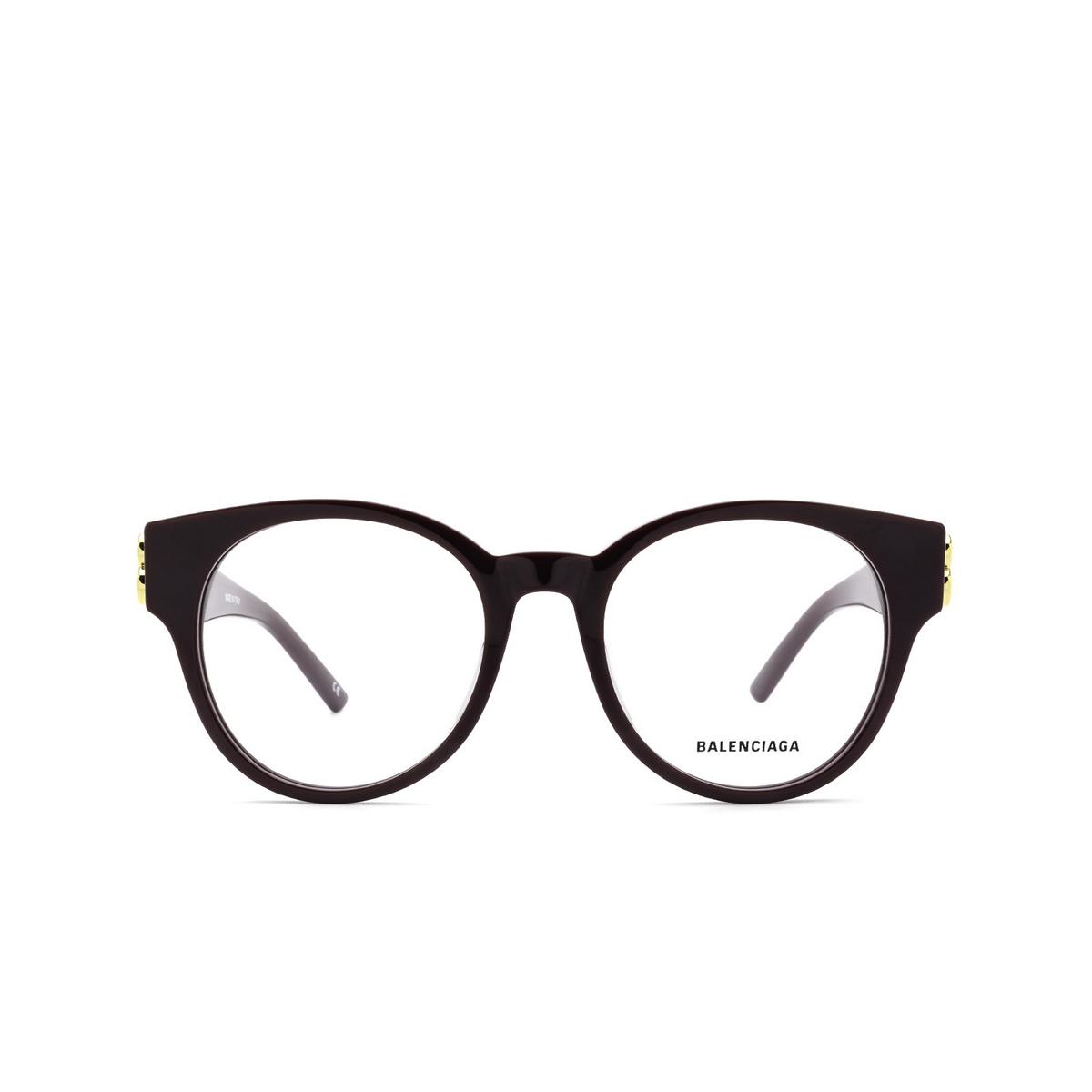 Balenciaga® Cat-eye Eyeglasses: BB0173O color Violet 003 - front view.